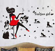DIY Fashion Modern Girl Wall Stickers Creative Home Decoration Living Room Wall Decals
