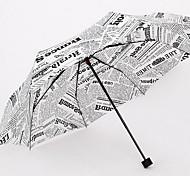 South Korea Folding Clear Umbrella Automatic Umbrella Three Folding Umbrella Men'S Business Double Printing Umbrellas