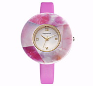 REBIRTH Brand Women's Simple Fashion Dial PU Leather Strap Quartz Dress Watch Wrist Watch