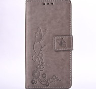Embossed Leather Wallet for Samsung Galaxy Core Prime Grand Prime