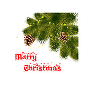 Window Sticker Window Decals Style Christmas Fresh Language Matte PVC Window Sticker - (60 x 58)cm