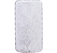 TPU Material White Rose Pattern Painted Slip Phone Case for LG K10/K8/K7/K5/K4/G5/G4/G3