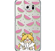 Cartoon Girl Pattern Soft Ultra-thin TPU Back Cover For Samsung GalaxyS7 edge S7 S6 edge S6 edge plus S6 S5 S4