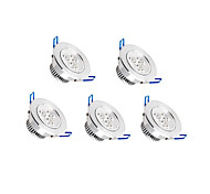 Z®ZDM 5pcs  6W 500-550LM Support Dimmable LED Panel Lights LED Ceiling Lights