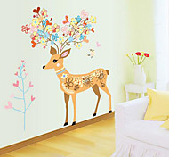 Beauty Sika Deer DIY Sticker Christmas Decoration Wall Decal Wall Stickers Xmas New Year Home Decor