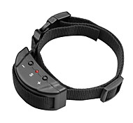 Dog Bark Collar Anti Bark / Adjustable/Retractable / Electronic/Electric / Shock/Vibration Solid Black Nylon
