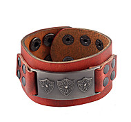 Unisex Fashion Jewelry Punk Style Alloy Adjustable Genuine Leather Bracelets Casual/Daily Gift Women Men Accessories