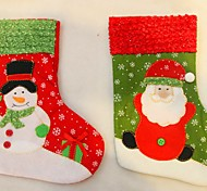 New Year 2016 Christmas Stockings Socks Santa Claus Candy Gift Bag Xmas Tree Decorations