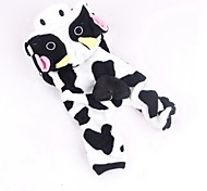 Cute Cow Shaped Coral Fleece Costume Jumpsuits   for Pets Dogs (Assorted Sizes)