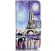 General Purse / Flip To Support PU Leather Flip Mobile Phone Shell Oil Tower for iPhone 7 / 7 Plus
