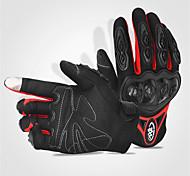 Vollfinger Gummi Baumwolle Gummi Motorräder Handschuhe