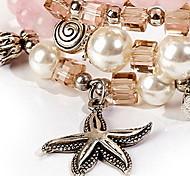 Bracelet Charmes pour Bracelets / Bracelets de rive / Bracelets Wrap Cristal Forme d'Etoile Mode Décontracté Bijoux Cadeau Incarnadin,1pc