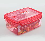 kitchenware plástico microwable recipiente de alimento com furo