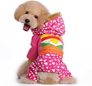 Cute Food Printing Coat with Hoodie and Pants for Pets Dogs (Assorted Sizes and Colours)