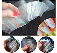 1pcs/pack New Transparent Nail Foils Starry Sky Glitter Nail Art Transfer Sticker Paper (4cmX120cm each piece)