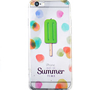 Ice Cream HD Pattern Embossed Acrylic Material TPU Phone Case For iPhone 7 7 Plus 6s 6 Plus