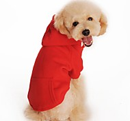 Casual Solid Color Fleece Hoodie for Pets Dogs(Assorted Sizes and Colours)