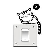 Животные / Праздник / Отдых Наклейки Простые наклейки Декоративные наклейки на стены / Наклейки для выключателя света,PVC материал Съемная