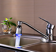 controle de temperatura circular de três cor mudança de temperatura de cor de 360 graus da torneira de água rotativo (abs chapeamento de
