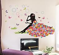 Мультипликация Наклейки Простые наклейки Декоративные наклейки на стены / Свадебные наклейки,PVC материал Съемная / Положение регулируется