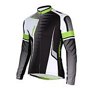 Sport Fahrradtrikot Herrn Langärmelige Fahhrad Atmungsaktiv / Rasche Trocknung / Tasche auf der Rückseite Jacke 100% Polyester einfarbig