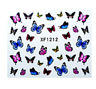 Fashion Cute DIY Watermark Butterflies Tip Nail Art Nail Sticker & Decal Manicure Nail Tools