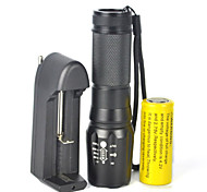 5000LM Zoomable Facus XM-L T6 LED Flashlight Torch Light26650 Battery  Charge