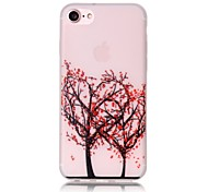 Glow in the Dark Love Tree Pattern Embossed TPU Material Phone Case for  iPhone 7 7 Plus 6s 6 Plus SE 5s 5