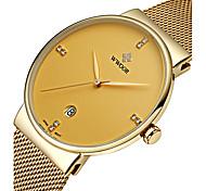 WWOOR Мужской Нарядные часы Модные часы Наручные часы Календарь Защита от влаги Фосфоресцирующий Имитация АлмазныйКварцевый Японский
