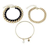 Gold Color Chain Bracelets Bangles Set
