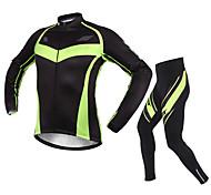 Sport Fahrradhose mit Jacke Herrn Langärmelige Fahhrad Atmungsaktiv / Rasche Trocknung / Sonnenschutz Kleidungs-Sets/Anzüge Vlies