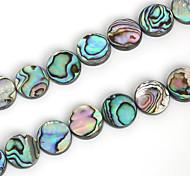 beadia 15 millimetri rotonda naturale abalone shell perle del mare (38cm / circa 25pcs)