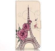 General Purse / Flip To Support The Rose Tower PU  Leather Flip Mobile Phone Shell for iPhone 7 / 7 Plus