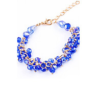 Chain Bracelets Crystal Circle Fashionable Bohemia Style Birthday Party Jewelry Gift Christmas Gift(Random Color)