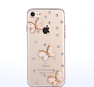 Per Custodia iPhone 7 / Custodia iPhone 7 Plus / Custodia iPhone 6 Con diamantini Custodia Custodia posteriore Custodia Farfalla