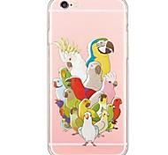 iPhone 7 7Plus Animal Birds Pattern TPU Ultra-thin Translucent Soft Back Cover for iPhone 6s 6 Plus 5s 5 5E