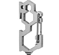 FURA Outdoor Multifunctional Stainless Steel Load-Bearing Carabiner - Silver