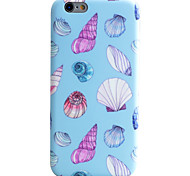 Shell Pattern IMD Technology Phone Case TPU Material For iPhone 6s 6 Plus