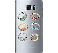 Для Samsung Galaxy S7 Edge С узором Кейс для Задняя крышка Кейс для Композиция с логотипом Apple Мягкий TPU SamsungS7 edge / S7 / S6 edge