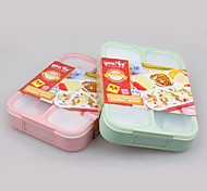 Eco BPA Free 4 Compartment Lunch Box Leakproof with Spoon