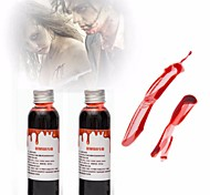 1PC 30ml Halloween Costume Party Artificial Edible Fake Blood plasma The Film And Television Props Makeup Cosplay Makeup