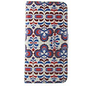 FLOWER Pattern PU Leather Flip Case with Magnetic Snap and Card Slot for Nokia Lumia N630/635/Lumia625