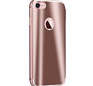 Para Funda iPhone 7 / Funda iPhone 6 / Funda iPhone 5 Cromado / Espejo Funda Cubierta Trasera Funda Armadura Dura Metal AppleiPhone 7