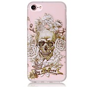 Glow in the Dark Skull Pattern Embossed TPU Material Phone Case for  iPhone 7 7 Plus 6s 6 Plus SE 5s 5