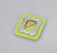Mirror frames shaped fondant silicone mold soap candle moulds sugar craft cake decorating Color Random