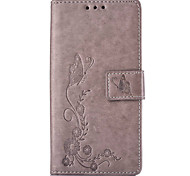 Butterflies Embossed PU Leather Material Leather  for Huawei P8 P8 Lite P9 P9 Lite Mate 8