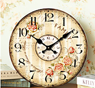 1PC Original Retro Room Parlor Classroom Noiseless Wall Clock