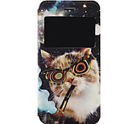 Per Custodia iPhone 7 / Custodia iPhone 7 Plus Con chiusura magnetica / Fantasia/disegno Custodia Integrale Custodia Gatto Resistente