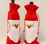 1 часть красного вина крышки бутылки в Санта-Клауса рождественские украшения обеденного стола домашней вечеринке