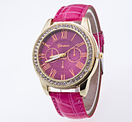 Fashion Ladies Wristwatch Top Brand Luxury Women Generva Quartz Watches Of Rhinestone Case Rome's Number Dial